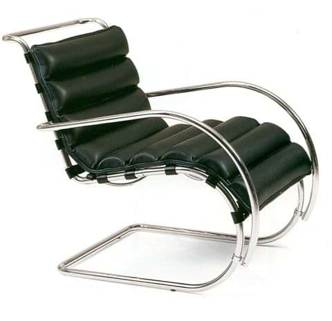 صورة Mies van der Rohe MR Lounge Chair mit Armlehnen (1931)