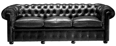 Picture of Walter Gropius Chesterfield Sofa (3-Sitzer)